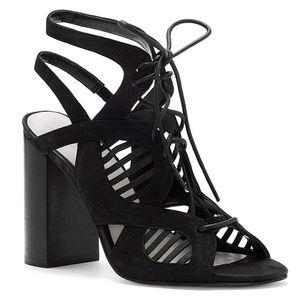 1. STATE Kayya Leather Lace-Up Laser Cut Sandals